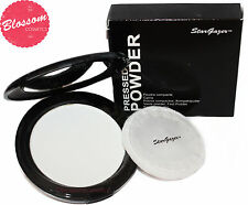 Stargazer WHITE PRESSED POWDER COMPACT Mirror & Puff Goth EMO VAMP HALLOWEEN NEW