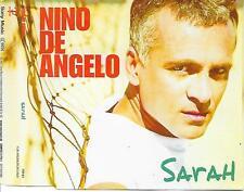 NINO DE ANGELO - Sarah PROMO CD SINGLE 1TR + INFO SHEET Germany 2002