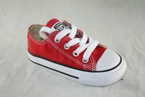 TODDLER CONVERSE 7J236 RED LOW TOP CANVAS CASUAL BABY SHOE