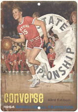 """1964 Converse Basketball Yearbook RARE 10"""" x 7"""" Reproduction Metal Sign"""