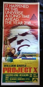Project X 1968 Original Australian Daybill Movie Poster