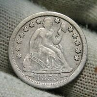1853 O Seated Liberty Dime 10C  - Nice Coin, Free Shipping (127)