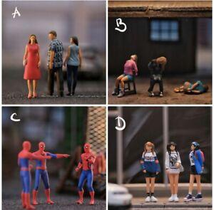 Miniature Figure Spiderman Meme 1/87 or 1/64 Diecast no Preiser Hotwheel