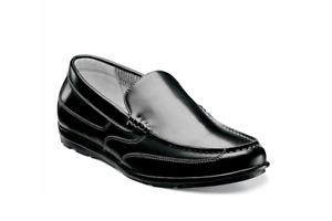 NEW Men's NUNN BUSH CALE Black Memory Foam Leather Slip On Loafer Shoes 11.5