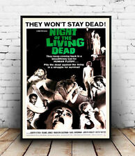 Nacht der lebenden Toten 1968 Reproduktion Movie Poster, Wandbild.