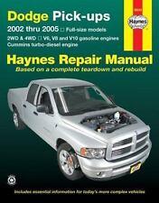 Haynes Repair Manual: Haynes Dodge Ram Pick-Ups V6, V8, V10 Gas and Cummins...
