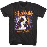 Def Leppard Love Bites Album Cover Mens T Shirt Metal Rock Band Tour Music Merch