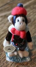 "Vtg Boyds Bears T. F. Wuzzie Monkey all dressed up w/ Boyds Stand 4"" Tall"