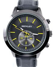 Reloj deportivo Henley Hombre Negro y Amarillo Smart Casual con correa de silicona