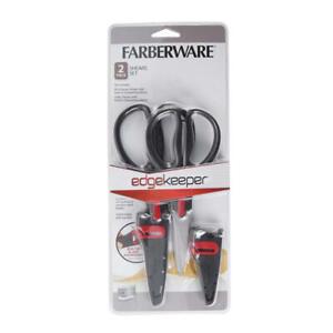 Farberware 2-Piece Shears Set EDGEKEEPER Kitchen + Multipurpose Utility Scissors