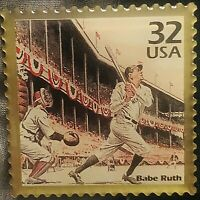 Vintage 1998 WINCO USPS BABE RUTH Gold Stamp Pin -Yankees
