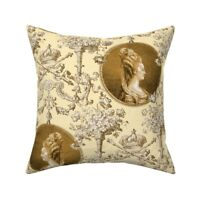 Marie Antoinette Toile Throw Pillow Cover w Optional Insert by Roostery