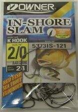 Owner 5373IS-121 Inshore Slam Hooks Red Fish Sea Trout Flounder BlackChrome 2/0