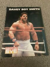 Vintage WWF DAVEY BOY SMITH Wrestling Pinup Photo WCW 1990s BRITISH BULLDOGS