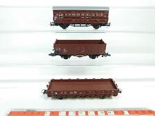 bg779-0,5 # 3x Roco H0 / DC Vagón de mercancía DB NEM : 720 630+332 650+323 1