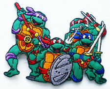 NINJA TURTLES Sew Iron On Transfer Fabric Embroidered Patch Applique Kids Craft