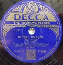 "Dick James - My Truly, Truly Fair / Happy Valley - Decca F9701 - UK 10"" Shellac"