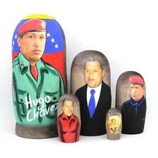 "Big Matryoshka Nesting Dolls ""Hugo Chavez"" hand painted #16"