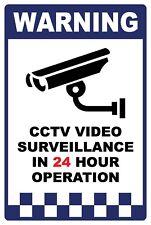 (3 X SIGNS) - CCTV SECURITY SURVEILLANCE VIDEO CAMERA SIGN - 300 X 200MM