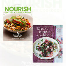 Nourish Cancer Care and Breast Cancer Cookbook 2 Books Collection Set Pack NEW