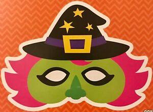 Halloween Glow Eye Mask FRANKENSTEIN OR WITCH - Each Set Includes 4 Glow Sticks