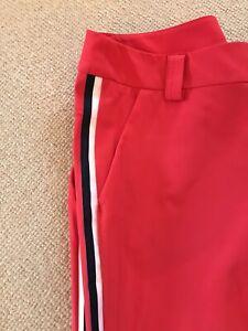 Golfhose Sportalm 42 Damen rot mit blau-weissen Streifen