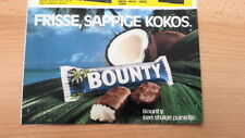 BOUNTY chocolate bar ARTICLE / clipping from Joepie magazine (Belgium)