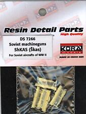 KORA Models 1/72 RUSSIAN ShKAS MACHINE GUNS for Russian WWII Aircraft