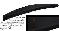 ORANGE STITCH FITS MINI CLASSIC ROVER COPPER AUSTIN DASH LEATHER COVER