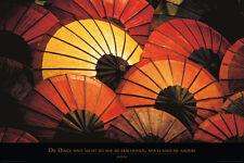 Poster PHOTO - QUOTIVATIONAL - Schirme - Die Dinge ... NEU!!  (57615)
