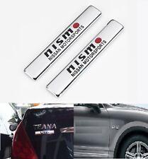 2Pcs Nismo Car Trunk Body Fender Metal Emblem Side Badge Decal Sticker