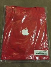 T Shirt Apple Store Employee Uniform Large  New In Package Short Sleeve Red