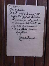 REGNIER Henri de - Lettre Autographe Signée à J. Brindejont-Offenbach. 1926.