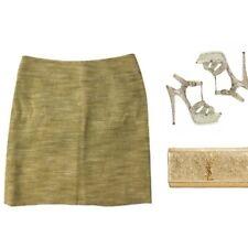 040eacd56 BADGLEY MISCHKA $395 metallic Linen Sparkle Skirt 8