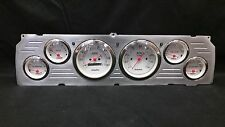 1964 1965 1966CHEVY TRUCK 6 GAUGE DASH CLUSTER WHITE