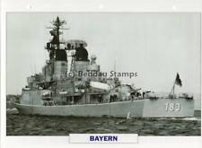 1962 BAYERN Hamburg-Class Destroyer Ship / Germany Warship Photograph Maxi Card