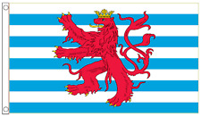 Luxembourg Federal Ensign With Lion 5'x3' Flag *** TO CLEAR ***