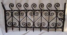 Antique Cast Iron Window Guard Grate Architectural Basement Salvage W/Lock Hasp