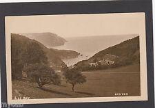 Postcard Lynton Devon early view of Lee Bay old RP by F Stanley of Lynbridge