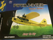 FX PIPER J-3 CUB SUPER GLIDER EASY TO FLY LIEGHT WEIGHT DURADLE AND FUN