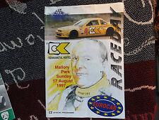 1997 MALLORY PARK 17/8/97 PROGRAMME - EUROCAR RACEDAY