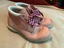 Womens Timberland Pink Leather Ankle Boots Size 8. Been Worn, Life Still In Them