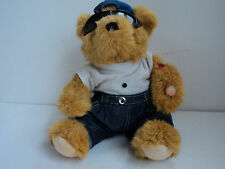 "animated sound plush comedy bear 10"" inches wearing sunglasses & i love mom"