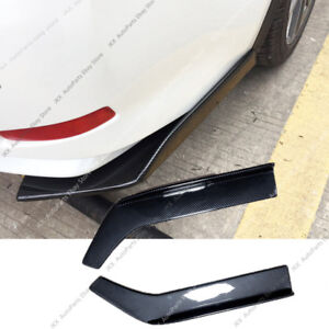 Carbon Fiber Universal Fit Rear Bumper Lip k Splitter Winglets PP 26X3.5 Inch 2P