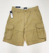 "New Mens Polo Ralph Lauren Cargo Montana Khaki  Genuine Shorts Size 32"" B2"