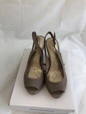 Giani Bernini Womens Peep Toe Sling Back Sandals dark taupe size 6.5