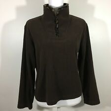 Wooly Bully Bear Womens Top~Colorado~Pullover~Long Sleeve~Brown~Size S