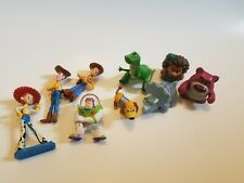 Disney Toy Story Small Pvc Toy Figures Lot - Cake Toppers Woody Buzz.