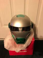 MASEI 610 GREEN ICE CHROME MOTORCYCLE BIKE CHOPPER ARAI HARLEY ICON HELMET M L