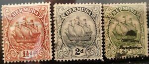 Bermuda Scott # 84-92 used 1922
